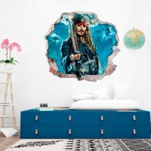 Vinilos y pegatinas 3d piratas del caribe