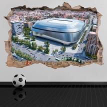 Vinilos 3d nuevo estadio santiago bernabéu