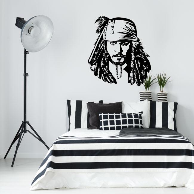 Vinilos decorativos jack sparrow piratas del caribe