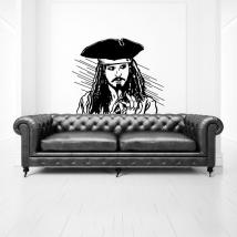Vinilos y pegatinas jack sparrow piratas del caribe