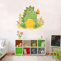 Vinilos infantiles dinosaurio y mariposa