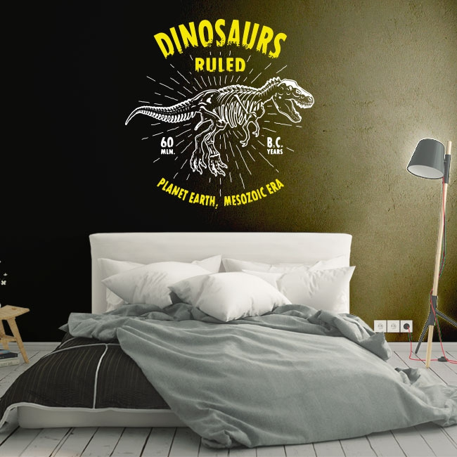 Vinilos y pegatinas dinosaurs ruled
