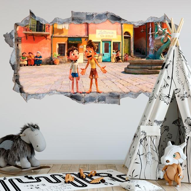 Vinilos decorativos 3d luca disney pixar