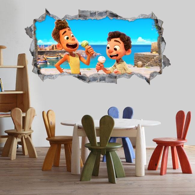Pegatinas 3d luca disney pixar