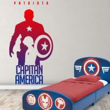 Vinilos marvel capitán américa patriota
