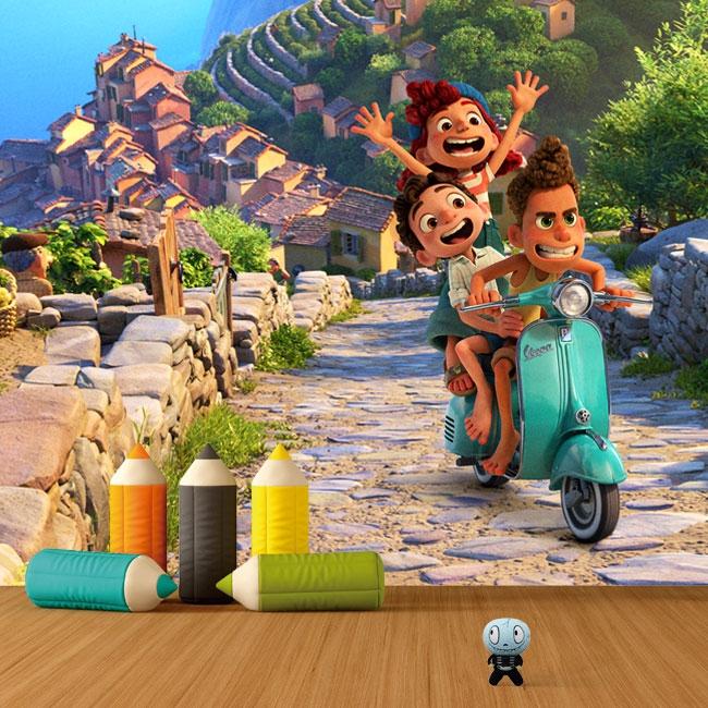 Fotomurales de vinilos luca disney pixar