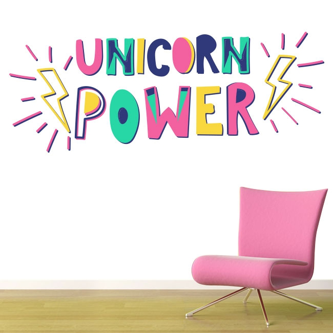 Vinilos decorativos unicorn power