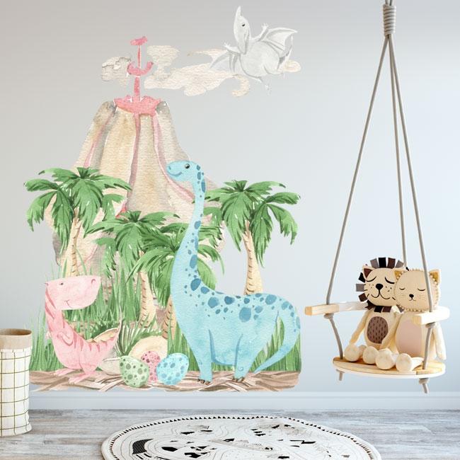 Vinilos decorativos dinosaurios para bebés