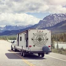 Vinilos caravanas frase viajar es soñar despierto