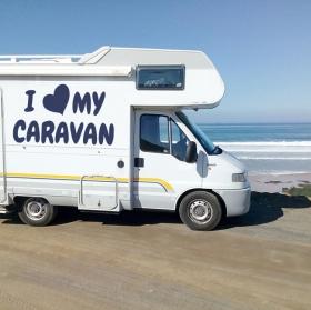 Vinilos autocaravanas frase i love my caravan