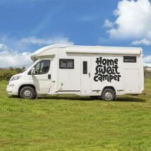 Vinilos autocaravanas frase home sweet camper