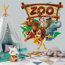 Vinilos y pegatinas animales del zoo