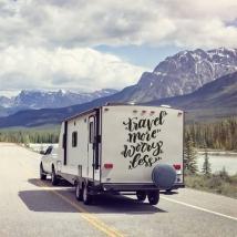 Vinilos adhesivos frase en inglés para caravanas