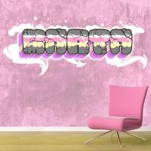 Vinilos decorativos nombres con efecto grafiti