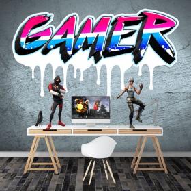 Vinilos y pegatinas textos personalizados gamer efecto grafiti