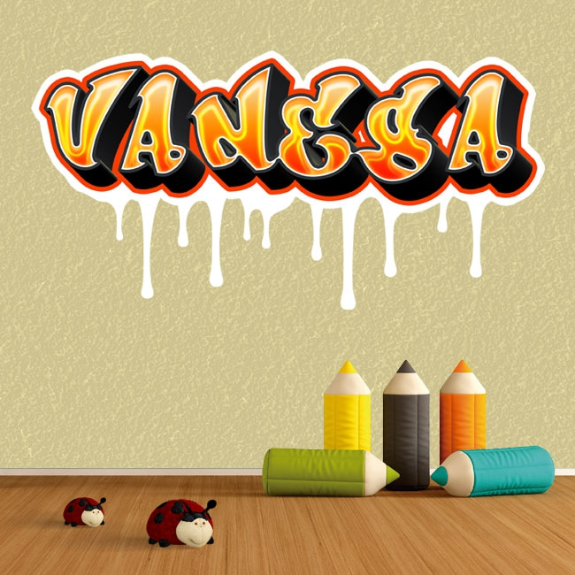 Vinilos grafiti nombres personalizados