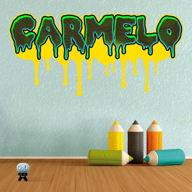 Vinilos efecto grafiti nombre personalizado