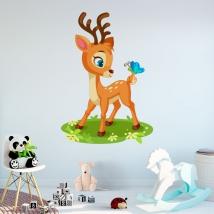 Vinilos infantiles bambi y mariposa