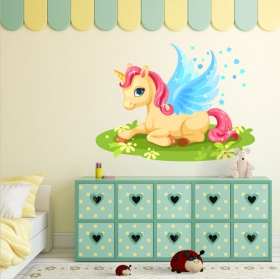 Vinilos decorativos y pegatinas unicornio mágico
