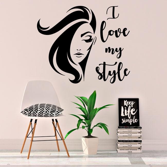 Vinilos y pegatinas rostro mujer i love my style