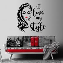Vinilos decorativos y pegatinas rostro mujer i love my style