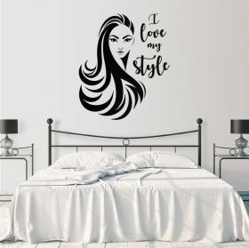 Vinilos rostro mujer i love my style