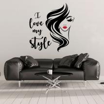 Vinilos adhesivos rostro mujer i love my style