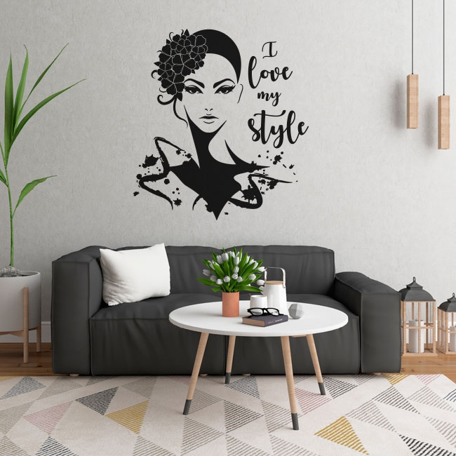 Vinilos rostro de mujer i love my style