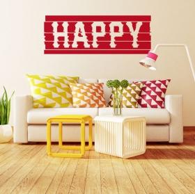 Vinilos decorativos y pegatinas happy