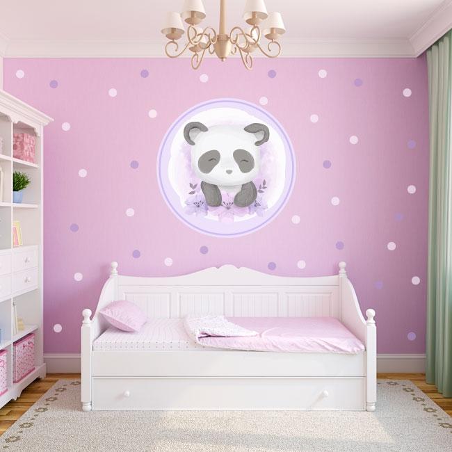 Vinilos juveniles o infantiles oso panda