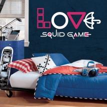 Vinilos decorativos y pegatinas netflix love squid game