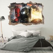 Vinilos decorativos 3d marvel spiderman y venom