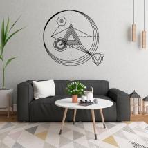 Vinilos decorativos triángulos con trazos y círculos