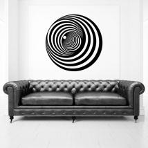 Vinilos decorativos círculos efecto óptico